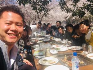 大阪城で花見!